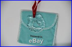 Tiffany & Co. Crystal Christmas Ornament chrystal wreath with bow with Box