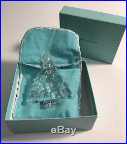 Tiffany & Co Crystal Christmas Tree & Acorn In Box 2 Pieces