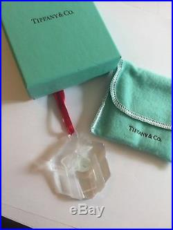 Tiffany & Co Crystal Glass Ornament Christmas Holiday Made in Slovenia w Box