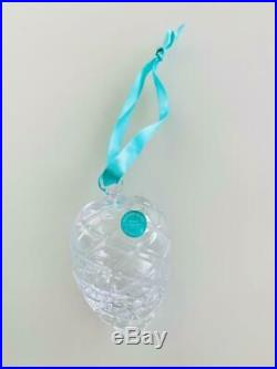 Tiffany & Co. Crystal Glass Pinecone Ornament Limited Edition in Box Promo Gift
