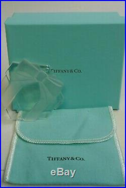 Tiffany & Co. Crystal Present Boxed Christmas Ornament Signed