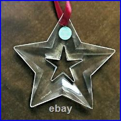Tiffany & Co. Crystal Star Ornament 2003 Collection Mint In Box