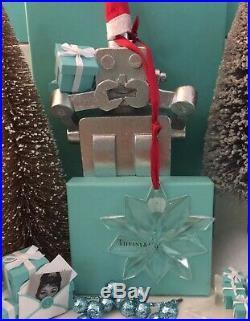Tiffany Co Crystal Star Ornament Christmas Snowflake Holiday Tree 3 Pouch Box