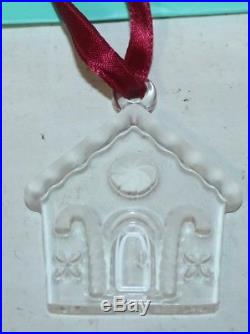 Tiffany & and Co. Christmas Tree Ornament GINGERBREAD House Crystal RARE