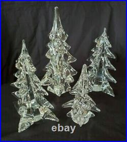Toscany Collection Crystal Christmas Trees Japan LOT of 4
