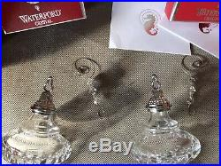 Two Waterford Snow Crystals Christmas Spire Ornament Lead Crystal