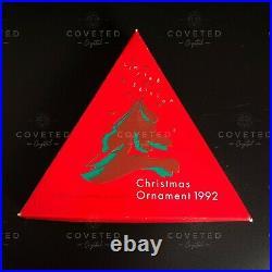 VERY RARE Swarovski 1992 Christmas Snowflake Ornament 168690 Boxed Retired