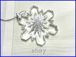 VTG The Giftware Suite Swarovski Silver Crystal Snowflake Christmas Ornament-Box