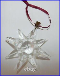 Very Rare Swarovski 1991 Snowflake Holiday Christmas Star Crystal Ornament