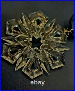 Vintage 1999 Swarovski Austrian Crystal Snowflake Christmas Ornament