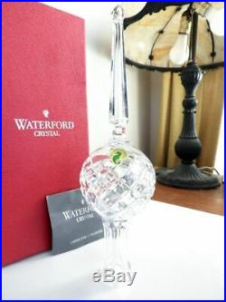 Vintage Waterford Crystal Christmas TREE TOPPER Ornament IRELAND MINT/BOX