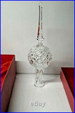 Vintage Waterford Crystal Christmas Tree Topper 10 1/2