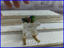 Vintage Waterford Jewels Mini Sleigh Gifts Crystal Decor Holiday Xmas Village