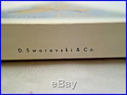 Vtg 1993 Swarovski Crystal Star Snowflake Xmas Ornament In Original Box