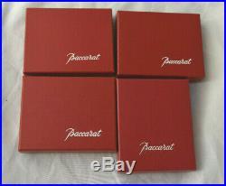 Vtg Baccarat Crystal France Christmas Ornament Noel Angel 4pc Set 2000 01 02 03