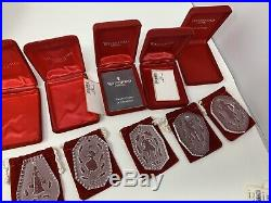 WATERFORD CRYSTAL 1982 TWELVE DAYS OF CHRISTMAS ORNAMENT PARTRIDGE +14 More Lot