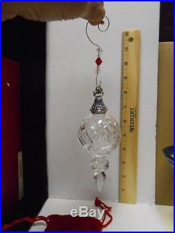 WATERFORD CRYSTAL ORNAMENT CHRISTMAS SPIRE KINSALE 2006 ORIGINAL BOX With HOOK