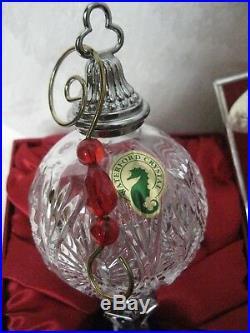 WATERFORD Crystal 2010 Spire Christmas Ornament with Charm & Enhancer Hook NIB