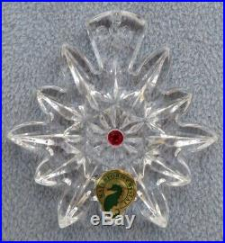 WATERFORD Crystal 2011 Snowflake Wishes Joy Christmas Ornament 1st Ed New in Box