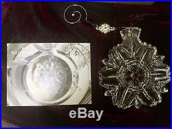 WATERFORD Crystal 2015 Snowflake Wishes Christmas Ornament