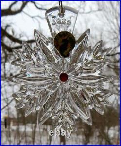 WATERFORD Crystal 2020 Snowflake Wishes LOVE Christmas Ornament Last Ed NIB