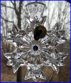 WATERFORD Crystal Kerry 2013 Snowflake Wishes Goodwill Christmas Ornament NIB