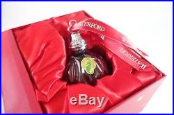 WATERFORD Red Cased Ball OrnamentCrystalCHRISTMASNEW for 2017MSRP $150