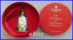 Waterford 12 Days of Christmas 8 Maids a Milking Bell Mint in Box W Label