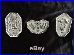 Waterford 12 Days of Christmas Crystal Ornaments withOriginal Boxes & Pouches