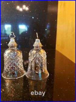 Waterford 12 days Of Christmas Bell Ornaments Lot of 2