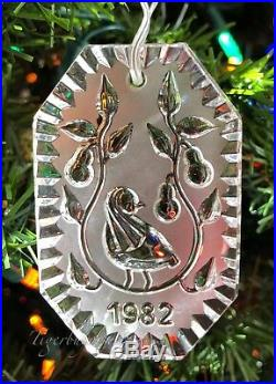 Waterford 1982 PARTRIDGE IN A PEAR TREE 12 Days of Christmas Ornament IRELAND