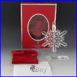Waterford 2004 SNOW CRYSTAL Faceted Christmas Tree Ornament Ireland Made 128593