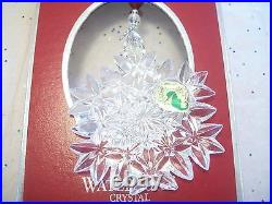 Waterford 2005 CRYSTAL Snow Crystals Ornament SNOWFLAKE MINT IN BOX
