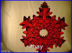 Waterford 2008 Ruby Red Cut Crystal Snowflake Ornamentunique And Gorgeous