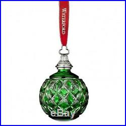 Waterford 2016 Annual Green Cased Ball Ornament New In Box # 40015787
