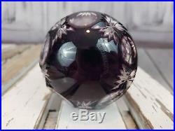 Waterford Balled Crystal Cased Ball Decoration Xmas Holiday Christmas Purple