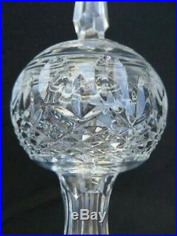 Waterford Cased Crystal Glass Clarendon Christmas Tree Topper Ornament Rare 10.5