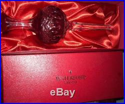 Waterford Clarendon Crystal Collection Ruby Red 10.5 Tall Christmas Tree Topper
