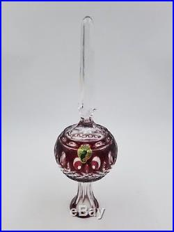 Waterford Clarendon Ruby Red Cased Crystal Christmas Tree Topper NIB