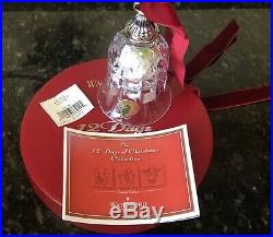 Waterford Crystal 10 Lords A Leaping Bell Ornament 12 Days of Christmas