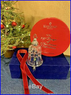 Waterford Crystal 10 Lords-a-Leaping Bell Ornament 12 Days of Christmas MIB