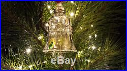 Waterford Crystal 10 Lords-a-Leaping Bell Ornament 12 Days of Christmas Mint MIB