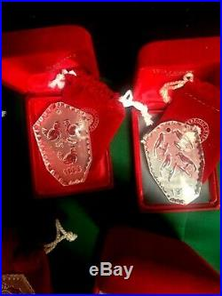 Waterford Crystal 11 12 Days Of Christmas Ornaments