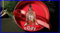 Waterford Crystal 11 Pipers Piping Bell Ornament 12 Days of Christmas MIB Mint