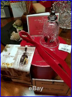 Waterford Crystal 11 Pipers Piping Bell Ornament 12 Days of Christmas Signed MIB