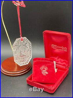 Waterford Crystal 12 Days Christmas Ornament 1982 Partridge in a Pear Tree withbox