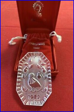 Waterford Crystal 12 Days Of Christmas 1982 Partridge In A Pear Tree Ornament