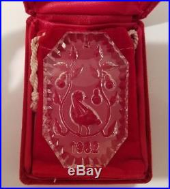 Waterford Crystal 12 Days Of Christmas Ornament 1982 Partridge In Pear Tree