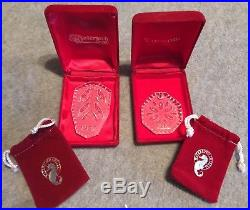 Waterford Crystal 12 Days Of Christmas Ornaments Partial Set 12 Ornaments