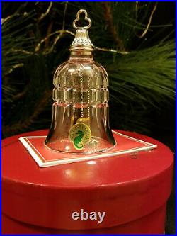 Waterford Crystal 12 Days of Christmas 10 Lords-a-Leaping Bell Ornament MIB Mint